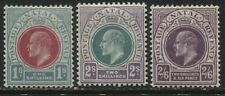 Natal KEVII 1902 1/, 2/, and 2/6d mint o.g.