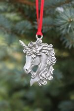 Hastings Pewter Co Lead Free Pewter Unicorn Ornament fantasy gift Mythical - New
