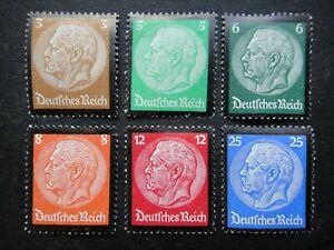 Germany Nazi 1934 Stamps MINT Third Reich von Hindenburg Deutschland German WWII