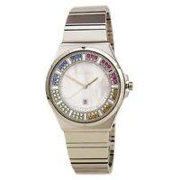 Seiko Women's Watch Multicolor Crystal Accents White MOP Dial Bracelet SXDG55
