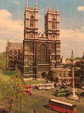 Westminster Abbey London Continental Card Post Card Vintage Photo Greetings