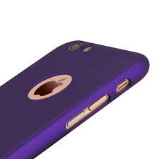 For Apple iPhone 7 Front and Back Full Coverage Case Cover with Tempered Glass