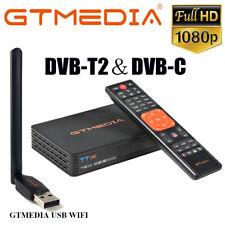 Digital Satellite DVB-T2 DVB-C Receiver 1080P HD H.265 Gtmedia Decorder FTA WIFI