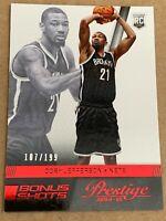 2014-15 Prestige Bonus Shots RED Rookie Cory Jefferson. #d/199. Nets