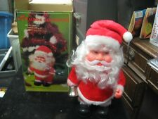 Vintage Battery Operated Walking Santa Claus Musical Toy w/ Box S-150 Hong Kong