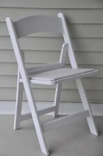 Chairs Folding White 4 Resin Wedding Reception Church Restaurant Dining Chair