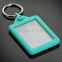 Premium Silicone Gel Clear Blank Keyrings Key Fobs 45 x 35 mm | Passport Photo