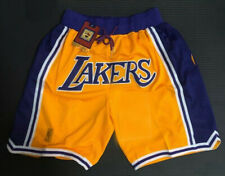 Men's Lakers  Basketball Game Shorts NWT Stitched