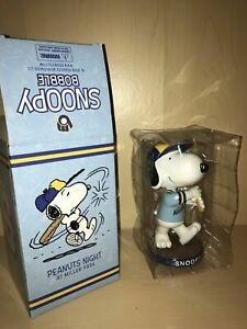Brand New Snoopy Baseball Bobblehead Milwaukee Brewers SGA Peanuts Charlie Brown