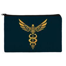 Caduceus Medical Symbol Doctor Nurse EMT Makeup Cosmetic Bag Organizer Pouch