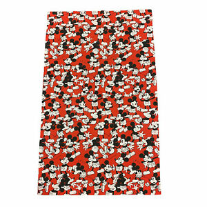 Vintage Mickey Mouse Flat Bedsheet Single Twin Child's Bed All-Over Print Disney
