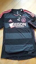 Ajax Amsterdam 2013-14 Away Men Football Soccer Jersey Shirt Z27020 S Black