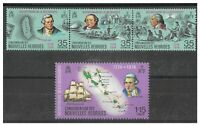 New Hebrides French 1974 Bicentenary Set of 4 Stamps SG F207a/10 MUH 12-3