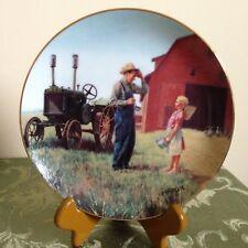 Daddy'S Little Helper Plate Farming The Heartland Farm Danbury Mint #A1189