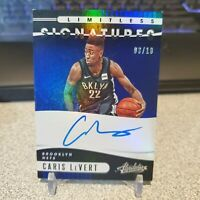 CARIS LeVERT 2019-20 Absolute Limitless Blue On-Card Auto /10 Nets 🔥 🔥 🔥