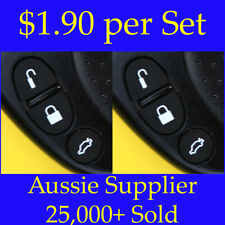 Holden Commodore Key Remote Buttons - 2 Black Sets