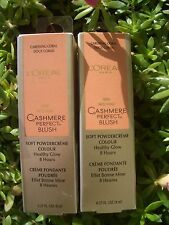 2 L'OREAL CASHMERE PERFECT HEALTHY GLOW, 8 HOUR BLUSH, CARESSING CORAL