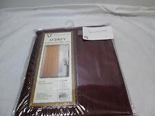 "NEW RT Designer AUDREY Jacquard Voile Stripe Window Curtain 60""x90"" Burgundy NEW"