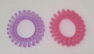 Swirly Do Hair Ties New 2 Purple Pink Tangle Free Ponytail SwirlyDo Lindo Small