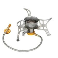 Lixada Portable Outdoor Camping Gas Stove Windproof Folding Burner w/ Piezo D1U9