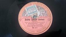 """78rpm 10¾"""" Fonografia Nazionale E1071/1072 Bergamaschi Andrea Chenier Improvviso"""