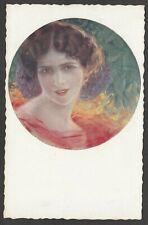 Postcard Art Nouveau artist signed C Guerzoni girl Glamour