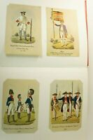 100 Postkarten Militär Uniform Darstellung historische Armee Zinnfigur ALB-711