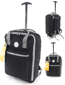 "New 18"" Cabin Approved Wheeled Carry On Flight Luggage Trolley Case Bag Backpack"