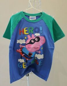 NEW Hero George T-shirt Size 6 - Blue & Green - Peppa Pig BNWT Tshirt / Tee