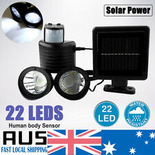 Waterproof 22 LED Solar Power PIR Motion Sensor Outdoor Wall Light Spot Lamp