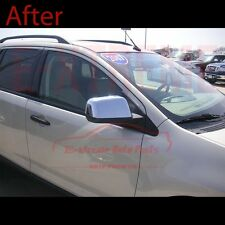 FOR 07-2010 FORD EDGE TOP HALF MIRROR CHROME COVERS