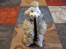 """VINTAGE SPAGHETTI POODLE PLAYING CLARINET 1950'S """"RARE"""" GOOD CONDITION"""