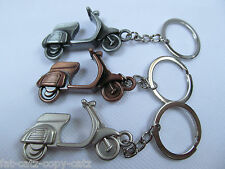 SOLID METAL SCOOTER VESPA LAMBRETTA KEYRING CHAIN COLLECTABLE GIFT IDEA UKSELLER