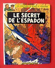 BLAKE ET MORTIMER EP JACOBS LE SECRET DE L'ESPADON LOMBARD BON ETAT