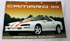 OEM GM SLP 1997 Camaro SS Owners Manual Supplement NEW 40 pages