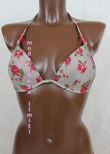 calzedonia bikini solo reggiseno donna mare grigio fiori imbottito 3 M 75