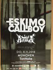 ESKIMO CALLBOY – ATTILA 2018 MÜ. - orig.Concert Poster -- Konzert Plakat  A1 NEU