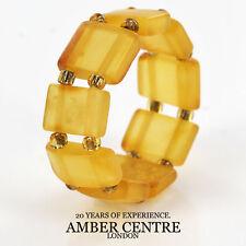 Misty Honey GERMAN BALTIC AMBER Handmade Elastic Ring RB027 RRP£35!!!
