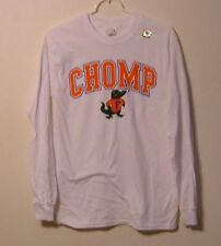 UNIVERSITY OF FLORIDA CHOMP WHITE LONG SLEEVE GATOR TEES NEW
