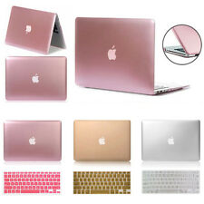 Metallic Rubberized Hard Case Cover Macbook Pro 13/15 Air 13/11 Inch Retina 12""