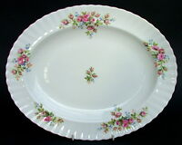 Royal Albert Moss Rose 1st Quality Oval Serving Platter 35cm - Looks in VGC