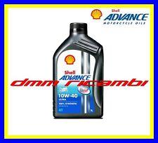 1 Litro Olio Motore 4 tempi SHELL ADVANCE ULTRA4 PUREPLUS 10W40 Sintetico SM MA2