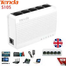 Tenda S105 Ethernet Switch Desktop 5 Port 10/100Mbps Network Switch LAN Hub PC