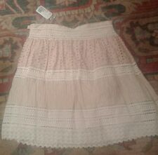 New with tags eyelet peach beige skirt forever twenty one  size M