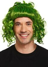 Ladies Mens Adult Green Oompa Loompa Book Day Wig Fancy Dress Costume Accessory