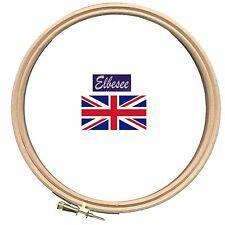 "Elbesee top quality Beechwood embroidery needlework hoop ring multi size 4""-12"""