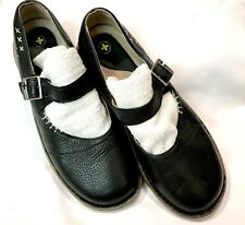 Dr. Martens Mary Jane Black Leather Buckle Shoes Women's Size 9 Loafers Doc