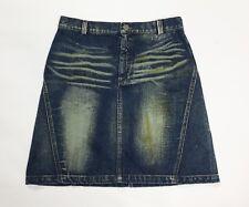 gai mattiolo jeans mini gonna minigonna usato donna w28 tg 42 skirt studs T3806