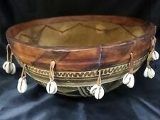 Decorated Calebasse Gourd Hand Drum 12""