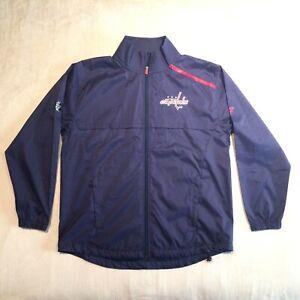 Washington Capitals Fanatics Pro Rinskide Full Zip Jacket Large Blue NHL Caps